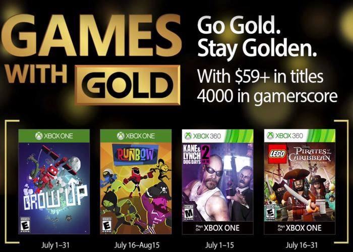 Games with Gold julio 2017