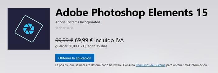 Adobe Photoshop Elements 15 oferta