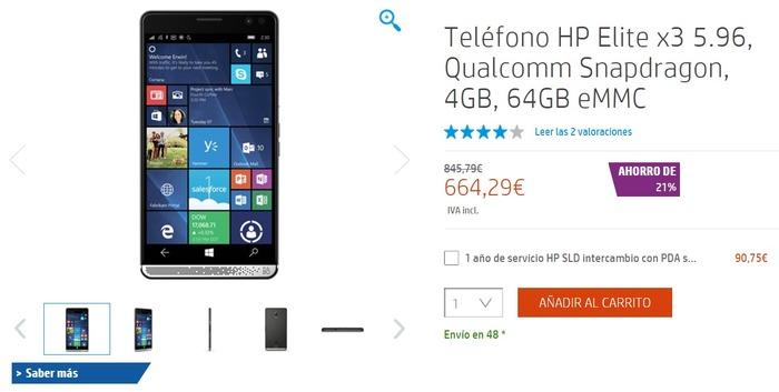 HP Elite x3 ahorro 21 por ciento