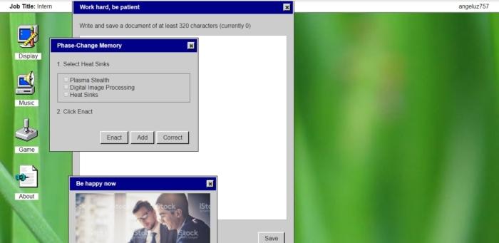 Juego Trabajo Windows 95 Escribe