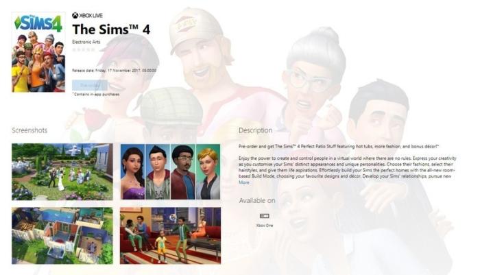 Los Sims Tienda Xbox