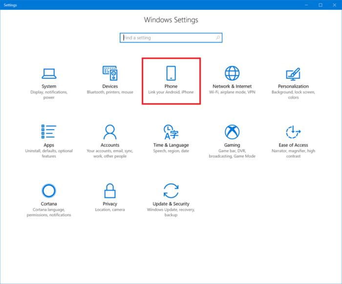Opcion Phone Configuracion