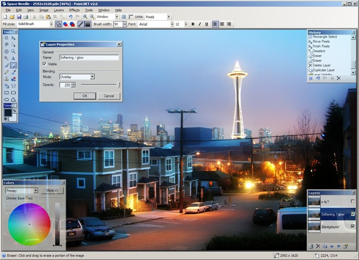 Paint.NET escritorio clasico