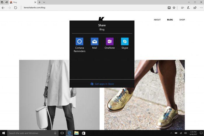 Skype Windows 10 opcion compartir
