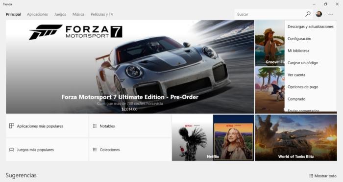 Actualizacion Interfaz Windows Store