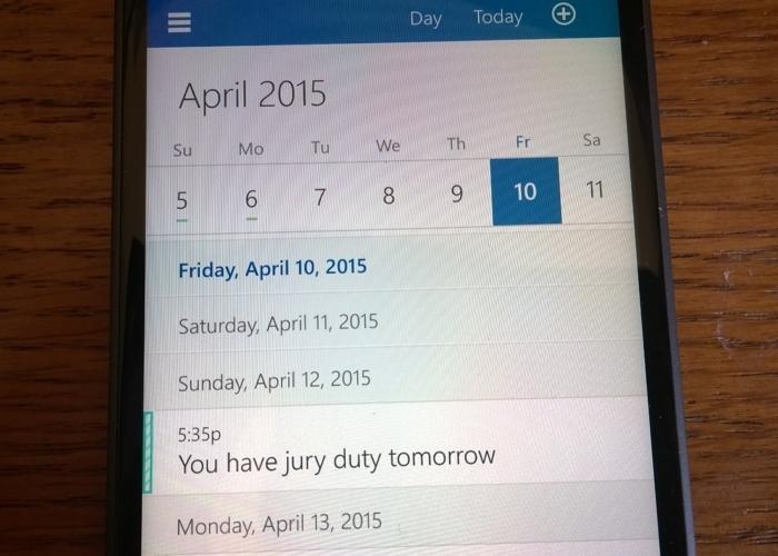 Calendar Windows Phone