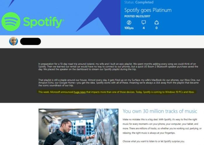 Captura Material Spotify