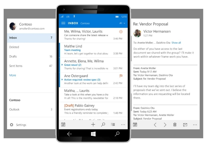 Mail App WIndows Phone