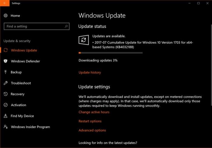 Update Windows Agosto