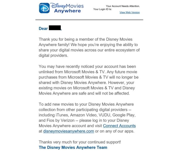 Comunicado Disney Microsoft