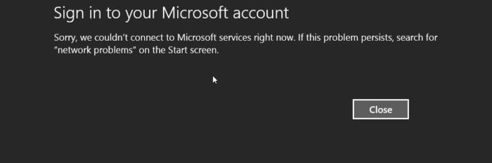 Error Cuenta Microsoft