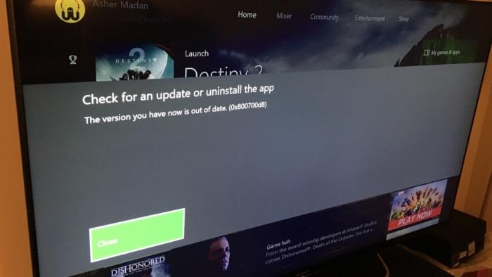 Error Xbox Update