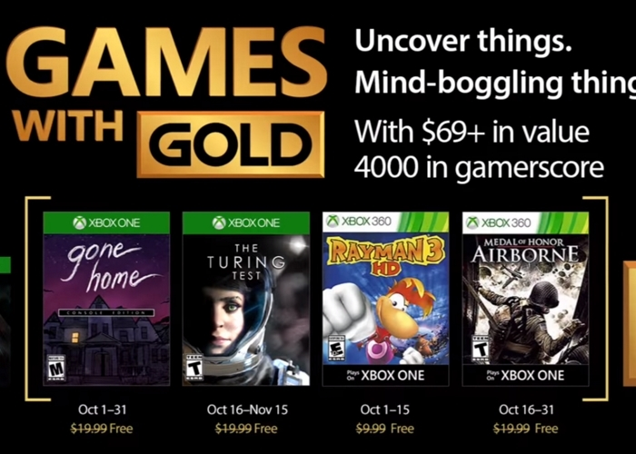 Games With Gold Octubre