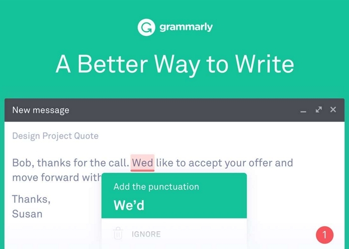 Grammarly Captura