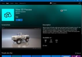 View 3D App Store