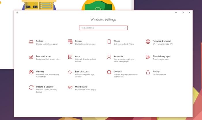 Configuracion Fluent Design