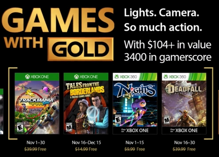 Games With Gold Noviembre 2017