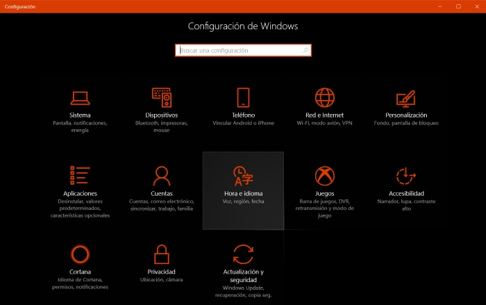 configuracion windows 10 fall creators update