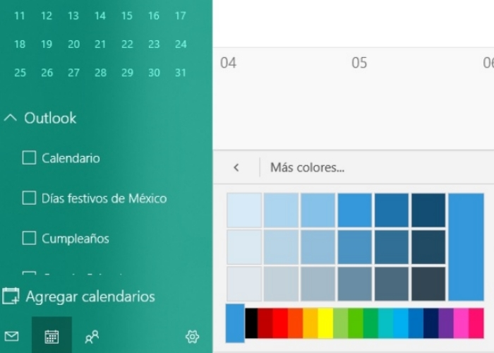 Calendario Colores