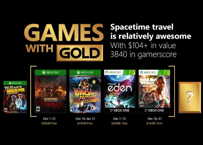 Games Gold Diciembre 2017