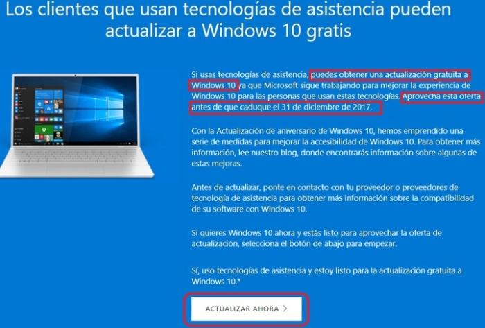 Aviso Windows 10 Gratis