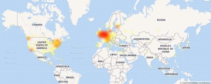 Mapa Falla OneDrive