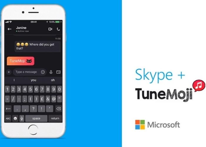TuneMoji ya está disponible en Skype para móviles