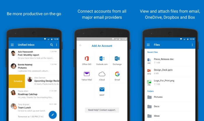 Outlook Android Funciones