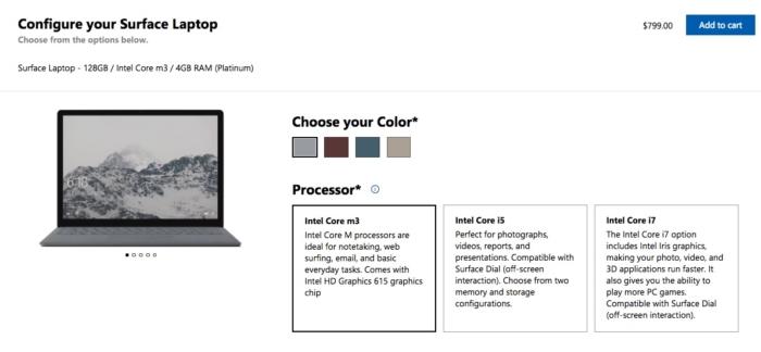 Configura Surface Laptop M3