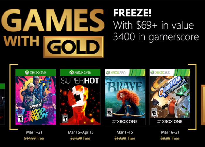 Games Gold Marzo 2018