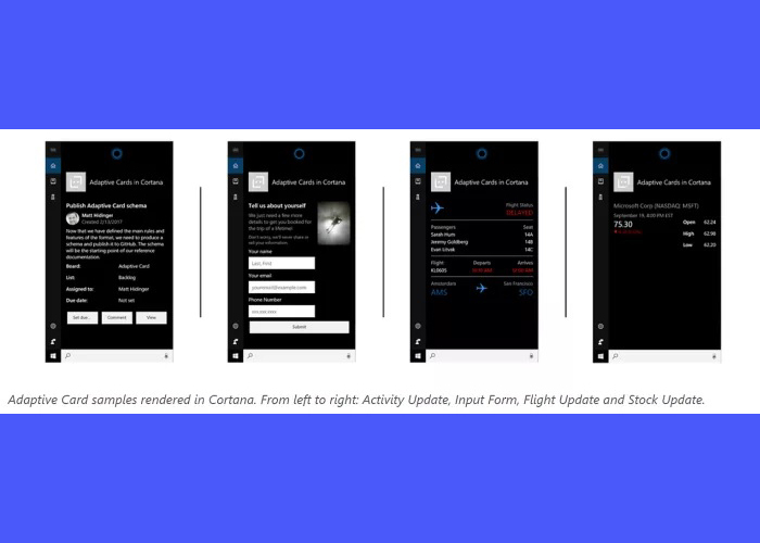 Tarjetas Adapatativas Cortana
