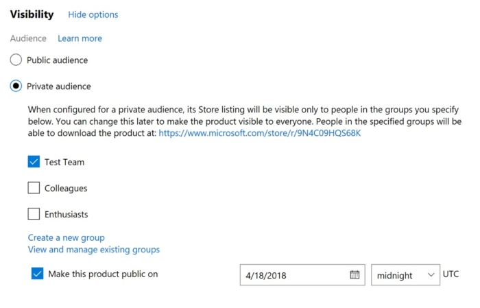 Audiencia Privada Apps