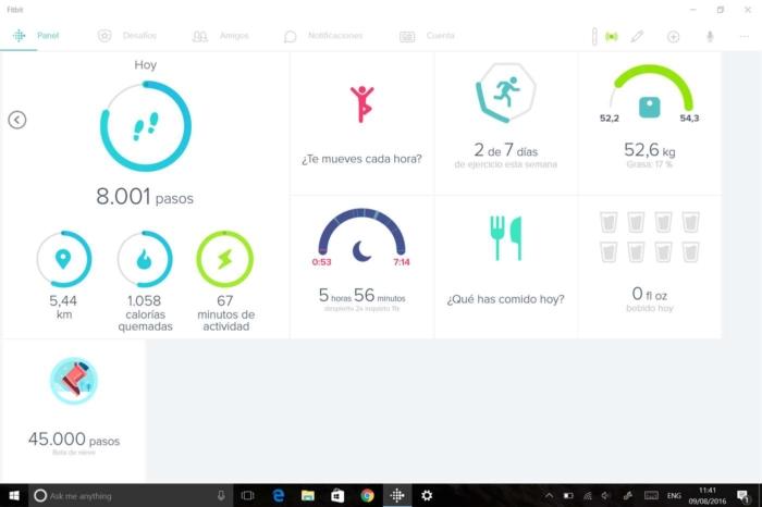 Datos App Fitbit