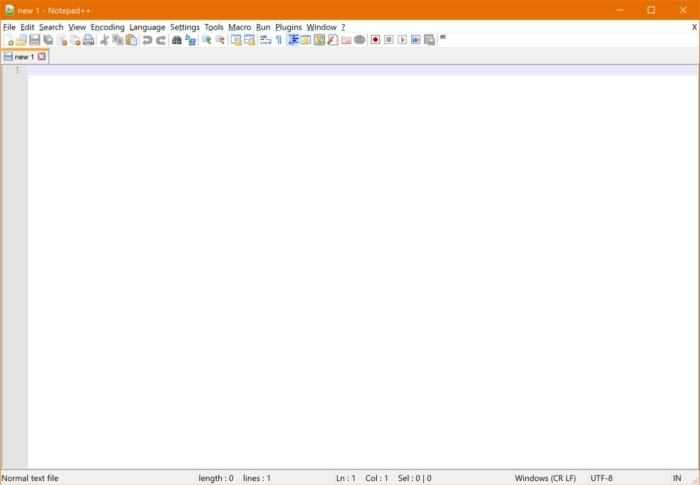 Notepad Plusplus Interfaz