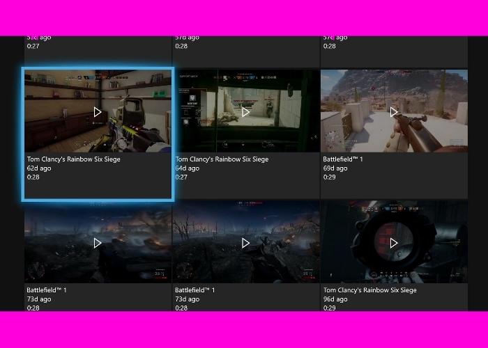 Clips Xbox DVR