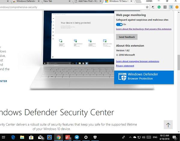 Extension Windows Defender
