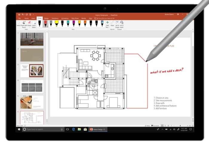 PowerPoint 2019 Tablet
