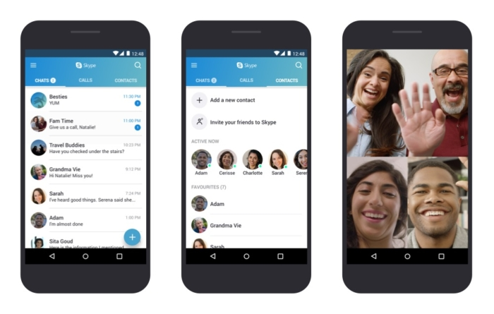 Skype Android Interfaz Llamada