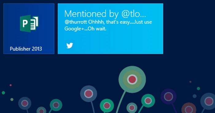 Twitter Live Tile