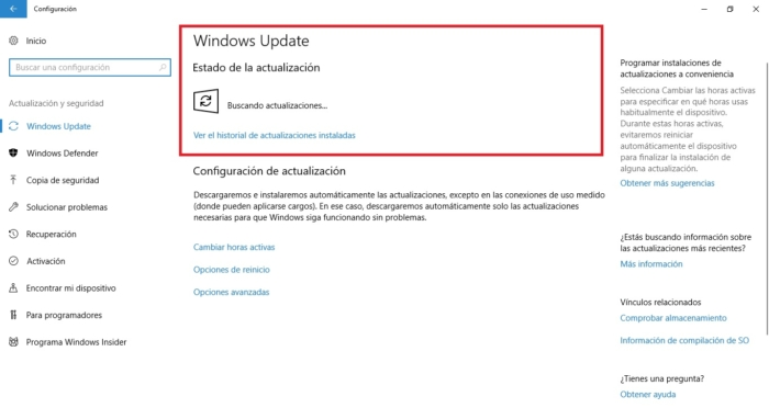 Windows Update Buscando