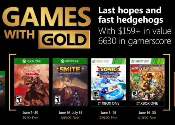 Estos son los Games With Gold que llegan el mes de junio a Xbox One y Xbox 360