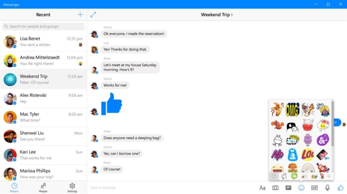 Messenger para Windows 10 ya permite enviar contenido HD