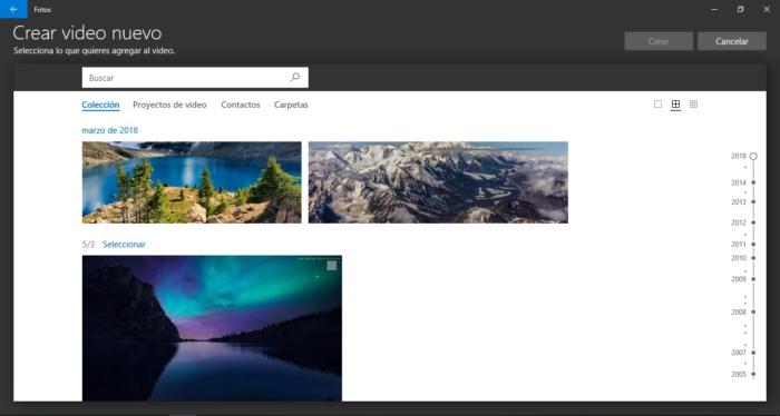 Microsoft estrena un creador de vídeos en Windows 10