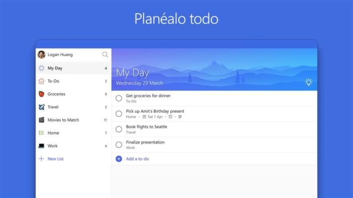 Conoce las novedades de la actualización de Microsoft To-Do para Windows 10