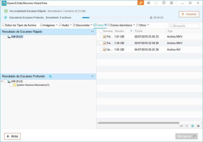 Cómo recuperar archivos borrados con EaseUS Data Recovery Wizard Free
