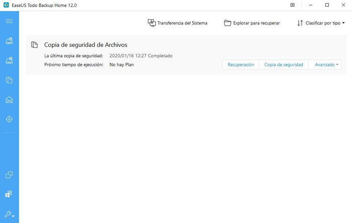 EaseUS Todo Backup permite recuperar las copias