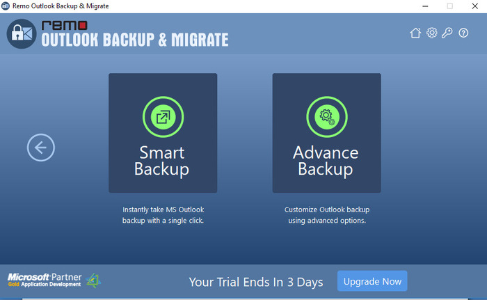 Remo Outlook Backup And Migrate - Copias de seguridad