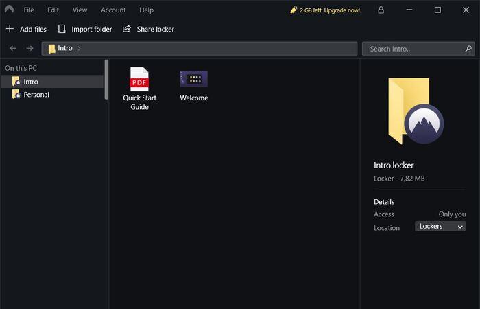 NordLocker protege archivos y carpetas