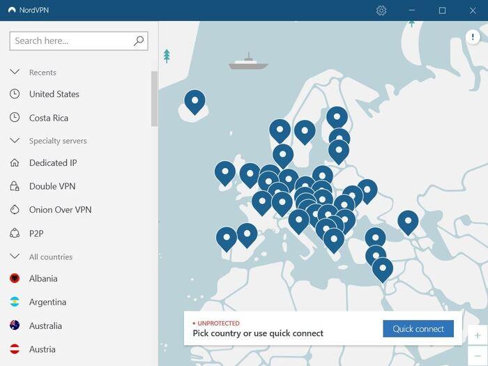 NordVPN es una red privada virtual