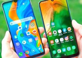 Samsung y Huawei tienen móviles que son todo pantalla